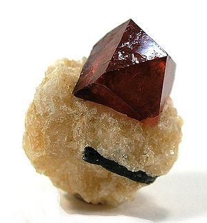 Jacinth - Red zircon from Gilgit, Pakistan
