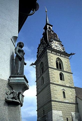 Zofingen - Zofingen downtown church