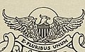 """E PLURIBUS UNUM"" BALD EAGLE ART DETAIL, FROM- (Bookplate of Woodrow Wilson) (LOC) (15609989752) (cropped).jpg"