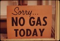 """NO GAS"" SIGNS WERE A COMMON SIGHT IN OREGON DURING THE FALL OF 1973, SUCH AS AT THIS STATION IN LINCOLN CITY ALONG... - NARA - 555416.tif"