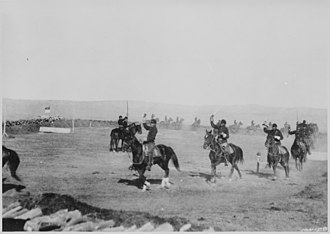 Fort Custer (Montana) - Saber Exercises, Crow Indian Troop 1st Cavalry, Ft. Custer Montana 1892