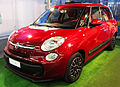 """ 12 - ITALY - Red Minivan Fiat 500L facing left 100% contrast.JPG"