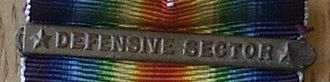 World War I Victory Medal (United States) - Defensive Sector Clasp on Ribbon