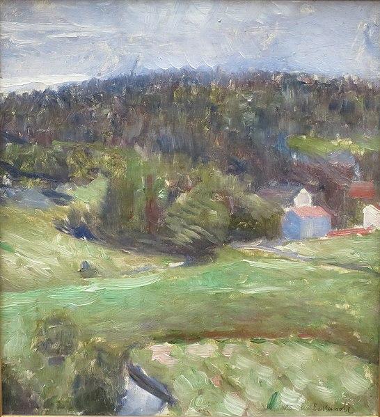 File:'Landscape' by Edvard Munch, 1890, Bergen Kunstmuseum.JPG