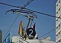 Ĉielarka flago sur viena tramo (tipo E1).jpg