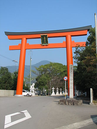 Ōasahiko Shrine - Ōasahiko Shrine's main torii