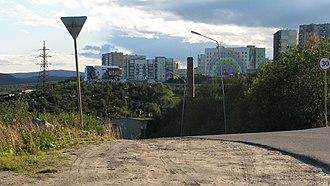Snezhnogorsk, Murmansk Oblast - The Rainbow House in Snezhnogorsk