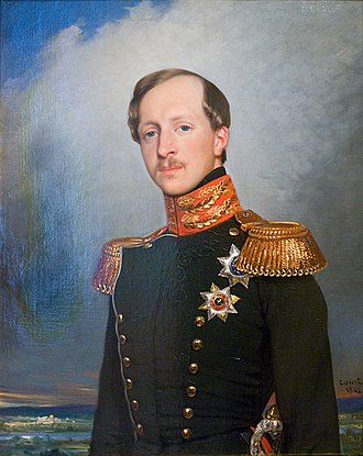 Joseph-Désiré Court - Portrait of prince Peter of Oldenburg in uniform of L-G Preobrajensky Regiment, 1842