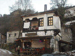 English: Traditional architecture in Melnik, B...