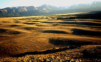 Altai flood - Giant current ripples in the Kuray Basin, Altai, Russia