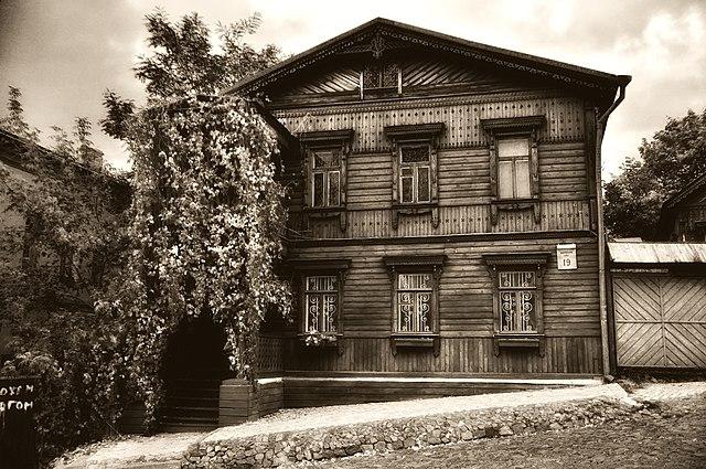 Старовинний дерев'яний будинок на Андріївському узвозі, м. Київ