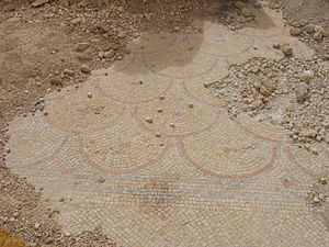 Hyrcania (fortress) - Herodian-period mosaic floor