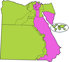 نتیجهٔ دور دوم انتخابات نخستین دورهٔ ریاستجمهوری مصر برپایهٔ نامزد برنده.png