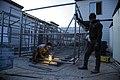 کارگاه ساخت کانکس برای مناطق زلزله زده کرمانشاه در زمستان90، منطقه ازگله Earthquake Kermanshah. Iran.jpg