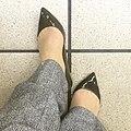 ちょっと変わった色のエナメルぺたんこ靴。ディープフォレストという色名がついていました。 (16792697141).jpg