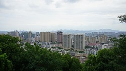 Downtown Xiaoshan, as seen from Beigan Hill