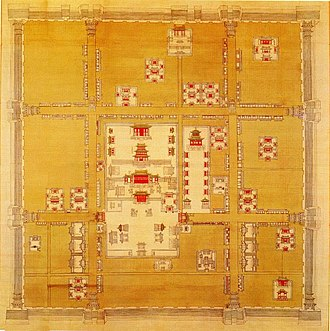 Map of Shengjing Inner City in 1660s Sheng Jing Cheng Que Tu .jpg