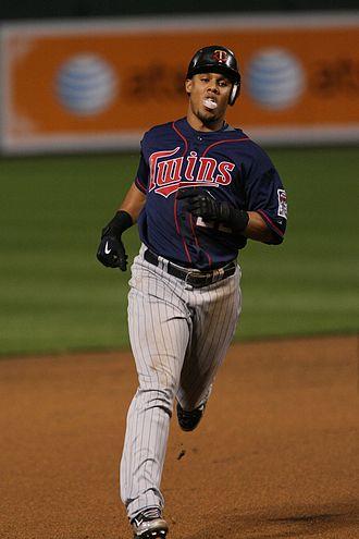2009 American League Central tie-breaker game - Image: 00113279 Carlos Gómez