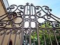 016 Casa Salvador Ripoll, c. Hospital 30 (Centelles), reixa d'entrada.jpg