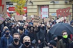 02020 0691 Protest against abortion restriction in Kraków, October 2020.jpg