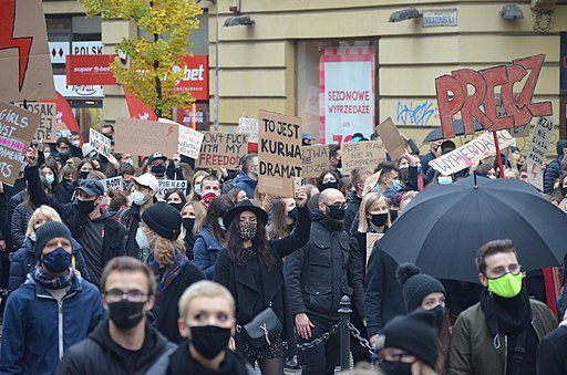 02020 0691 Protest against abortion restriction in Kraków, October 2020