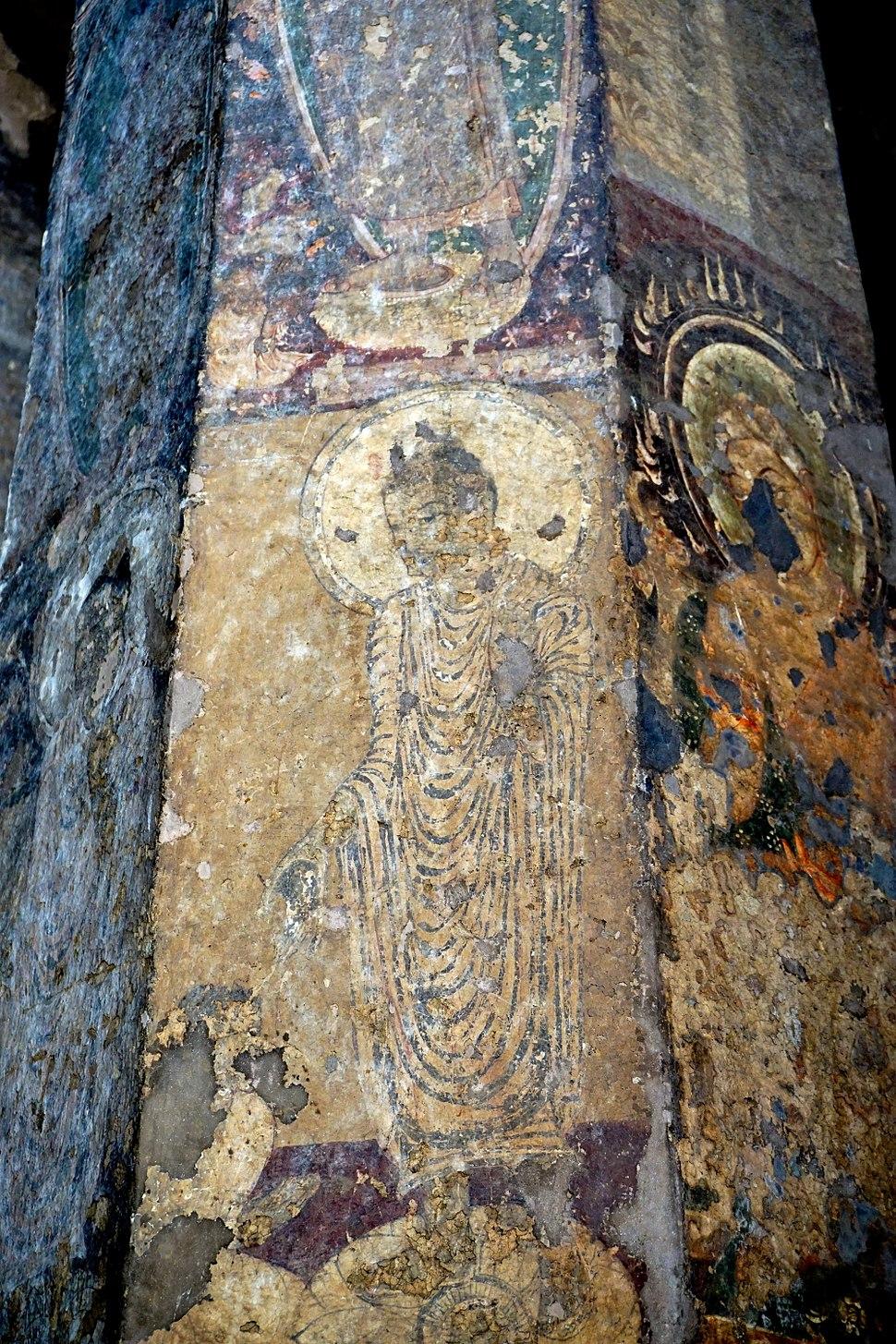 089 Cave 10, Buddha Drawing on Column (33896473480)