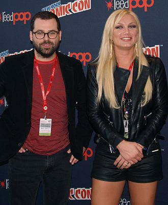 Brooke Hogan - Hogan with Brad Neely, creator of the animated TV series China, IL, on which she has done voice work