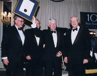 The Hundred Year Association of New York - 1999 Gold Medal Awardee Robert R. Douglass and Dinner Chairman and 2002 Gold Medal Honoree Charles J. Urstadt