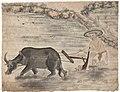 """10 peintures annamites représentant les métiers au Tonkin (""""Paysan labourant sa rizière"""").jpg"""