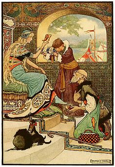 12 Oh, said the man, I am able to do everything. - Russian Fairy Book 1916, illustrator Frank C Pape.jpg