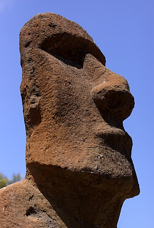 Squidward Tentacles - Squidward lives in a moai, like those of Easter Island.