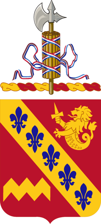 137th Field Artillery Battalion (United States) - Coat of arms