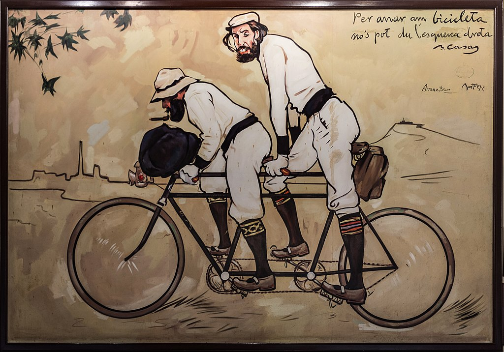 Location de vélo à Barcelone, illustration de Ramon Casas i Carbó