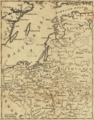 1757 Narva detail of map Russians March to Prussia BPL 14326.png