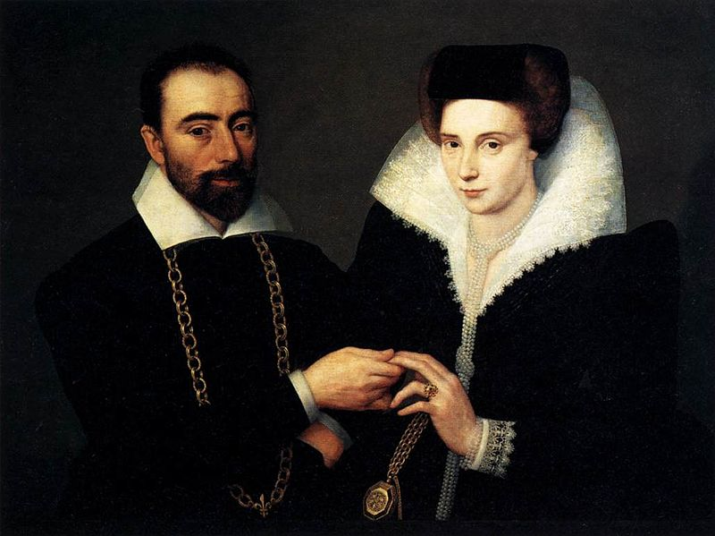 File:17th-century unknown painters - Portrait of a Couple - WGA23678.jpg