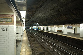 181st Street (IRT Broadway–Seventh Avenue Line) - Image: 181 Street 1 train 2 vc