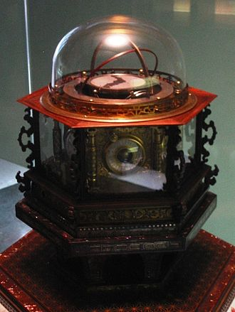 Japanese clock - Hisashige Tanaka's 1851 myriad year clock displays Japanese, equal hour, and calendar information.