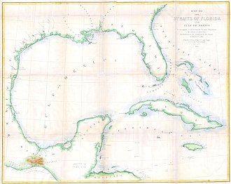 Isthmus of Tehuantepec - Map of the Straits of Florida and Gulf of Mexico. To accompany a report from the Treasury Department to the Senate by Israel D. Andrews, per the resolution of the Senate of March 8, 1851.