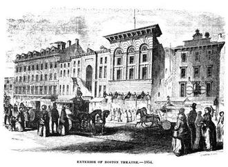 The Boston Theatre - Image: 1854 Boston Theatre Bostonian 1894 v 1 no 1