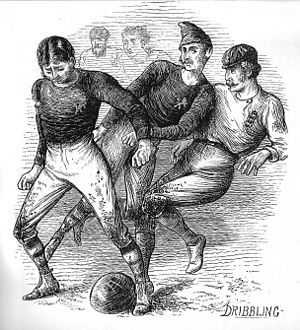 England–Scotland football rivalry - Image: 1872 engl v scotland ralston