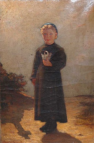 Frank Hill Smith - Image: 1876 Girl with bucket by Frank Hill Smith