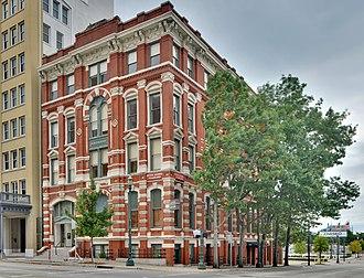 1884 Houston Cotton Exchange Building - The building's exterior in 2010