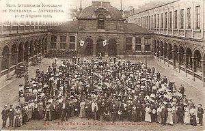 Esperanto - 7th Esperanto congress, Antwerp August 1911.