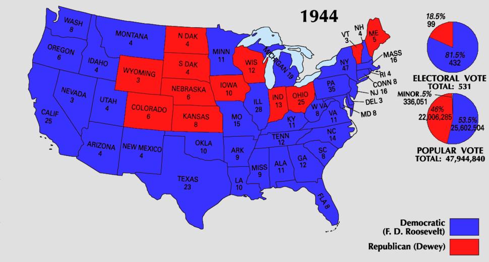 1944 Electoral Map