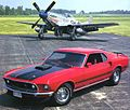 1969 Ford Mustang Mach 1 SportsRoof 428 Cobra Je t w P 51 Mustang Fighter Red Frt Qtr.jpg