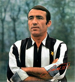 Spanish footballer Luis del Sol Cascajares with Juventus F.C. in the 1st half of the 1969–70 season.