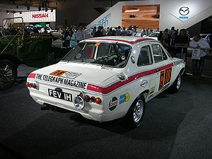 1970 London to Mexico World Cup Rally - Mikkola's Ford Escort prototype based on the RS1600, from the rear.