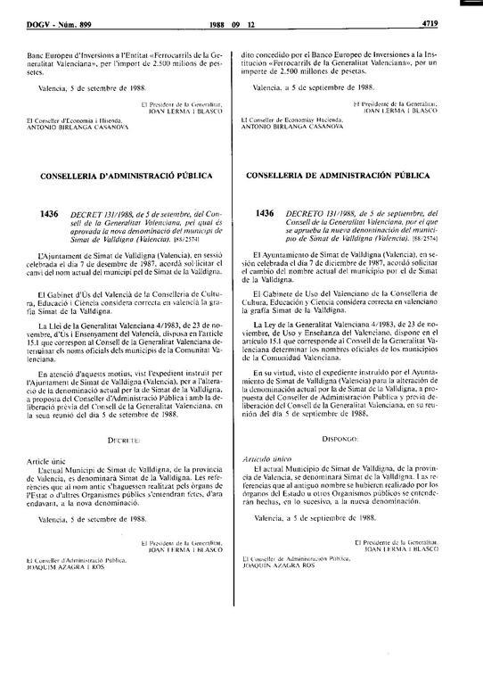 diari oficial de la generalitat valenciana: