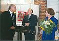 1994-09-11 80ster Geburtstag Rufus Flügge, (01) Oberbürgermeister Herbert Schmalstieg, Ernst-Dietrich Lorenz und seine Ehefrau.jpg