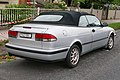 1998 Saab 9-3 S 2.0t convertible (2016-01-04) 02.jpg